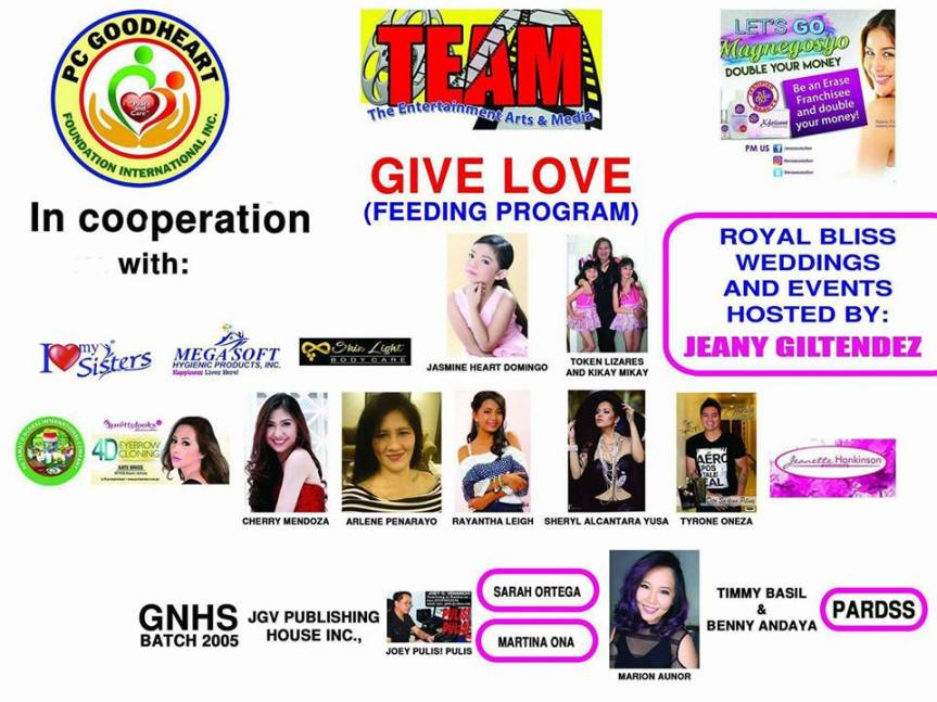 TEAM Give Love: For the benefit of Guinbirayan Elementary and National HighSchool