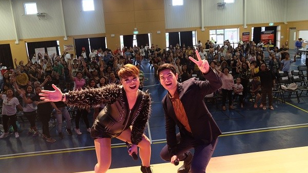 "Daryl Ong and DJ Jhai Ho entertain Filipinos from Canberra and Wagga  Wagga, Australia for TFC's""Sama-Saya"""
