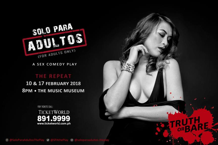 "April ""Congratulations"" Gustilo will spice up your night one more time in the repeat of Solo Para Adultos"