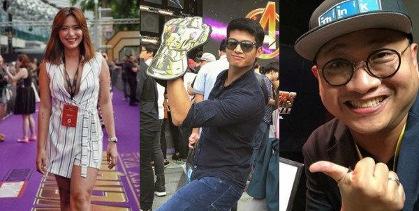 Filipino celebrities spotted at the red carpet event of 'Avengers: InfinityWar'