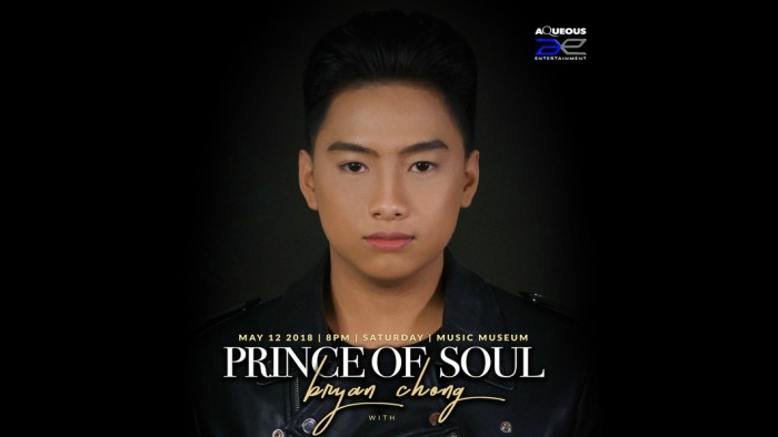 Prince of Soul Bryan Chong performing live on his first solo majorconcert