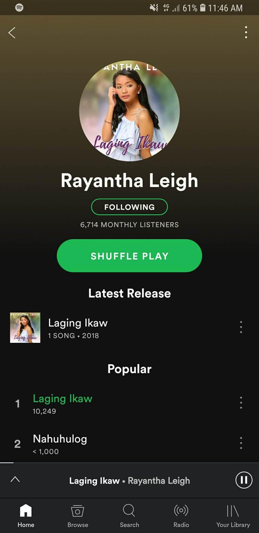 Rayantha Leigh spotify