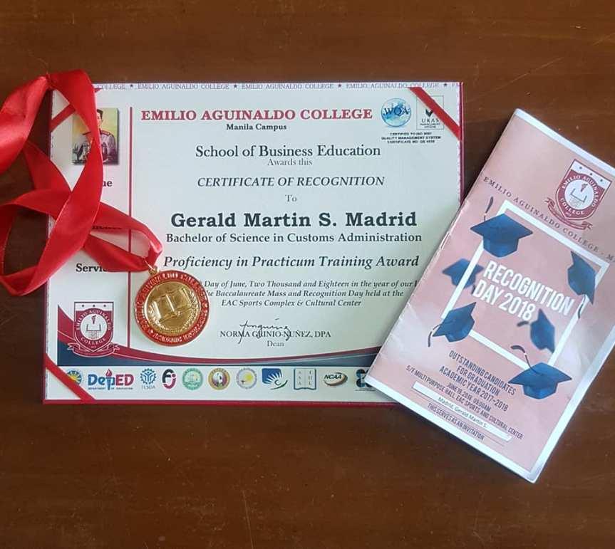 Gerald Madrid graduate