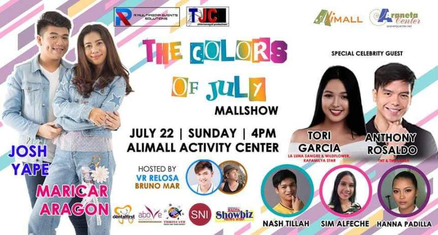 "Josh Yape and Maricar Aragon, showing-off their talent in ""The Colors of July"" mall tour"
