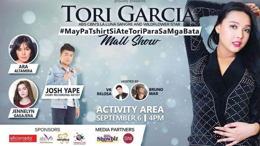 Tori Garcia, muli mamimigay ng t-shirts for kids #MayPaTshirtSiAteToriParaSaMgaBata MallShow