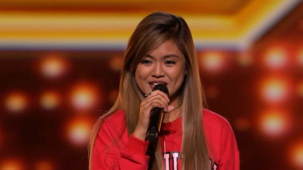'X-Factor UK', giving standing ovation to 17-year old Filipina contestant, MariaLaroco