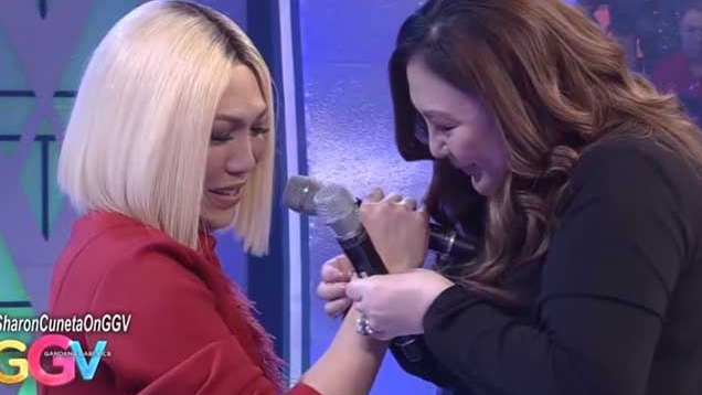 Sharon, sobrang galante talaga, expensive bracelet ibinigay kay ViceGanda