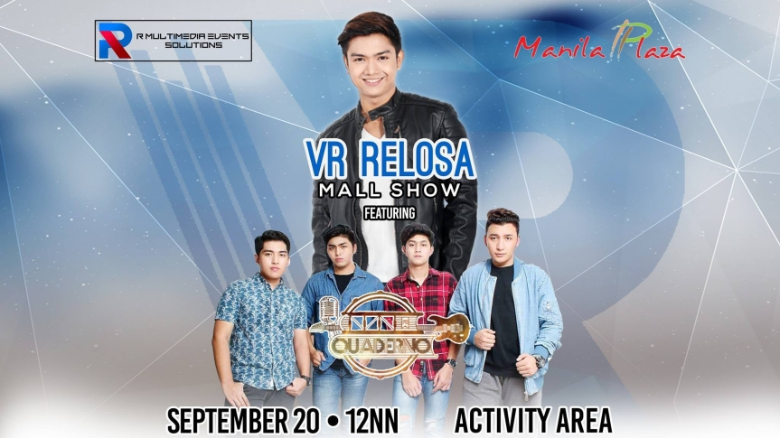 VR Relosa, may mall show na gaganapin sa Ever Manila Plaza