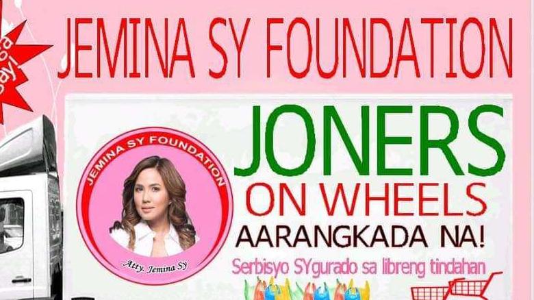 Joners on Wheels ng Jemina Sy Foundation, maraming napasaya natao