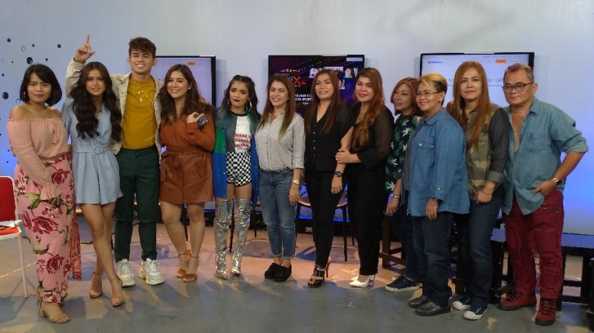 (L-R) Get ready for one memorable weekend with this bunch! In the photo are DJ Chacha, Maris Racal, Inigo Pascual, Moira Dela Torre, KZ tandingan, and the Aegis band