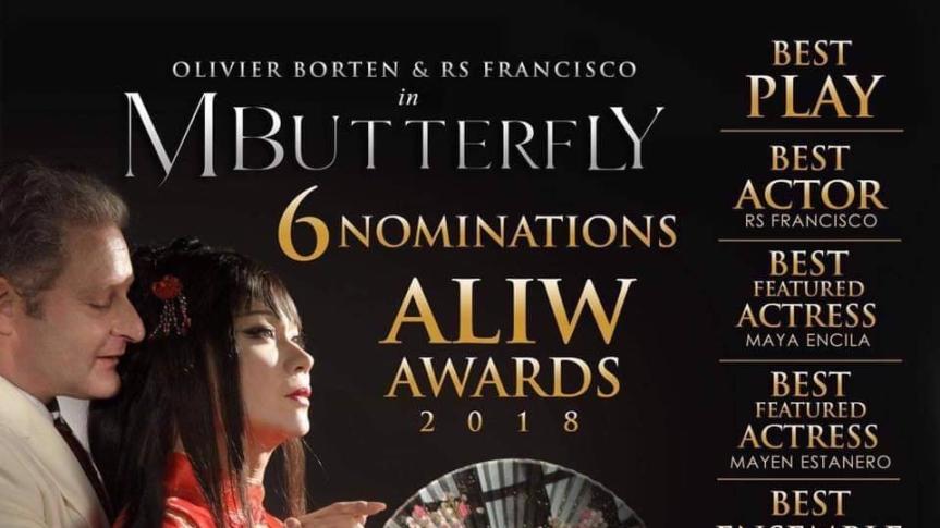 M. Butterfly, 6 ang nominasyon sa Aliw Awards2018
