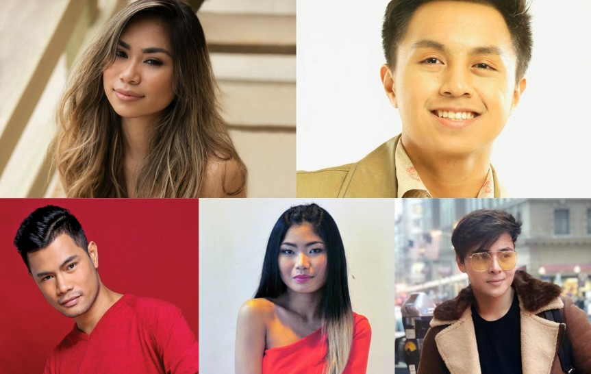 Jessica Sanchez, Bugoy Drilon, and Ryan Tamondong, performing live at the Waterfront Hotel and Casino Cebu on December 20
