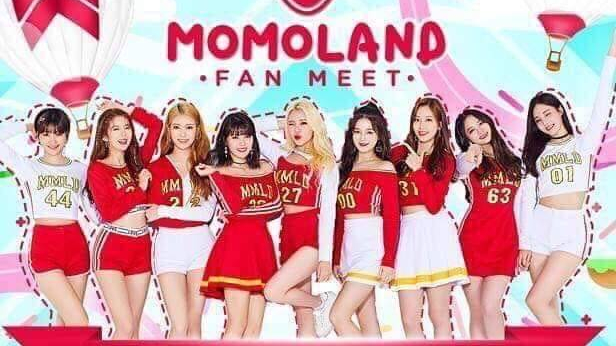 Momoland arrives in Manila for Frontrow's meet-and-greet event