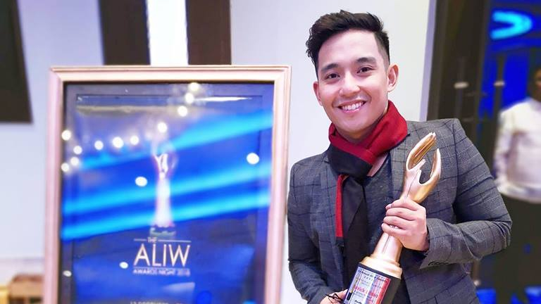 Patrick Libao wins Best Actor at the 2018 Aliw Awards