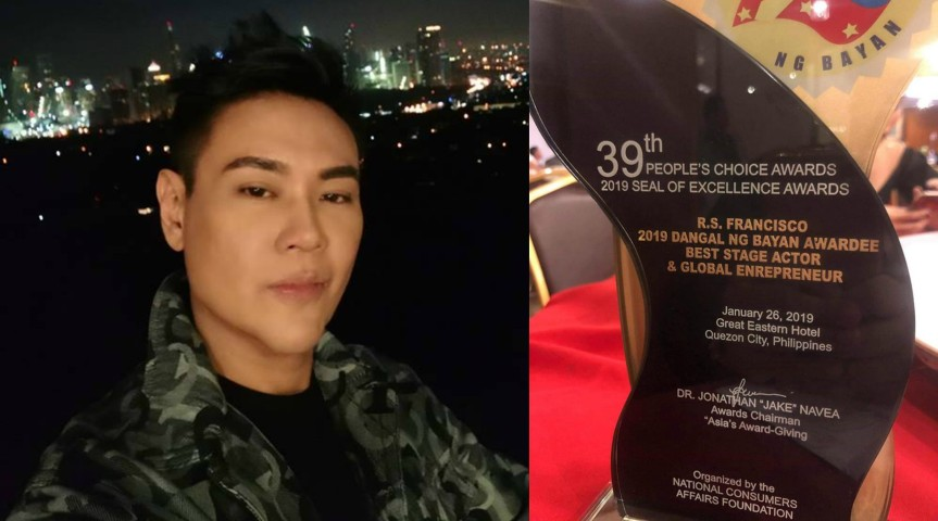 Frontrow President RS Francisco wins 'Best Stage Actor and Global Entrepreneur' award at the '39th People's Choice Awards 2019 Seal Of Excellence Awards'