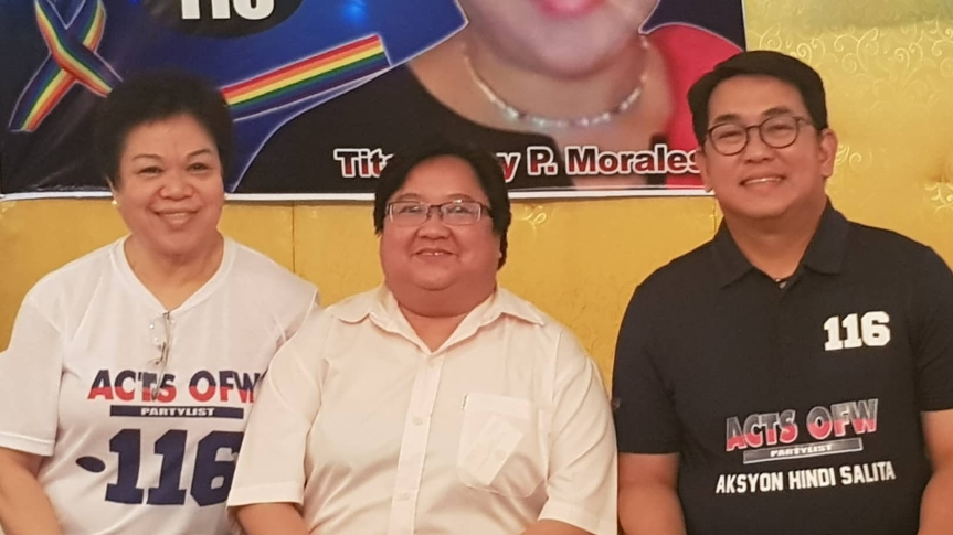 ACTS-OFW Party List Supports the LGBT Anti-Discrimination Bill