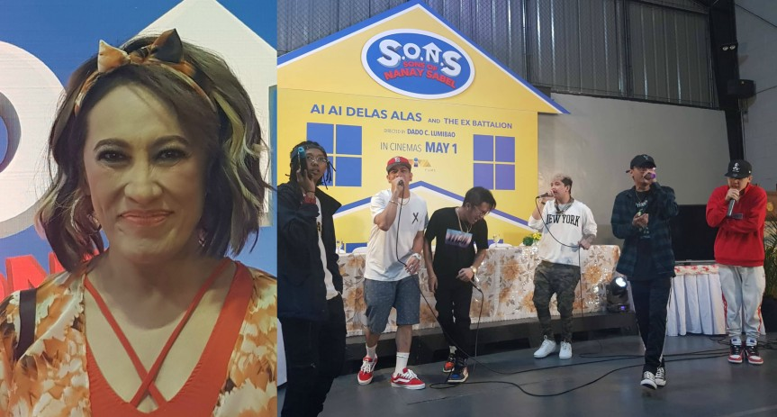 Tanging Ina star Ai-Ai delas Alas performs another mother role with Ex-Battalion in S.O.N.S.