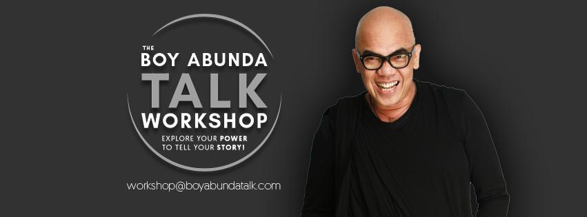"Boy Abunda teaches you the proper way of public speaking and hosting in ""The Boy Abunda TalkWorkshop"""