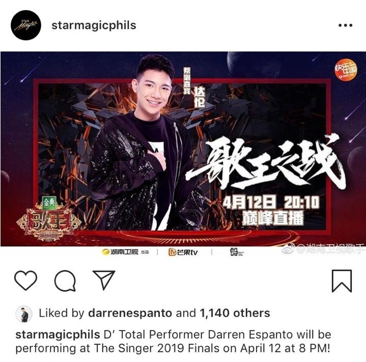 Darren Espanto in SInger 2019
