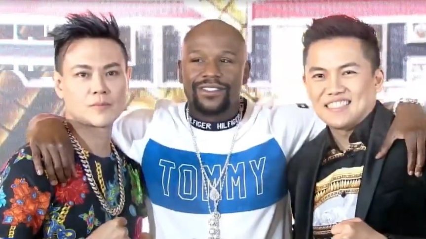 Floyd Mayweather, Jr. returns in the Philippines for the party with RS Francisco and Sam Verzosa