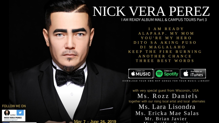 Nick Vera Perez returns to The Philippines for his album tour