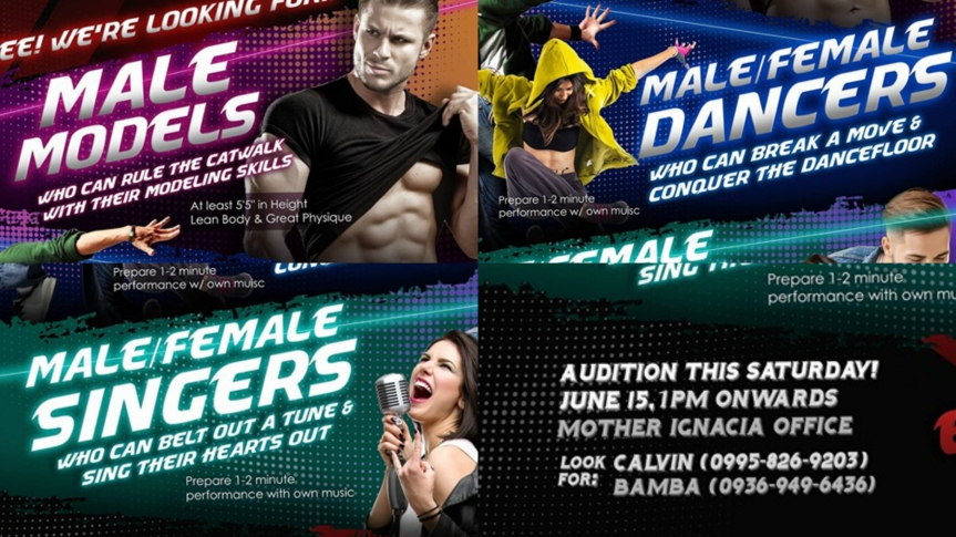 Frontrow International announces an one-day audition for their upcoming event this June