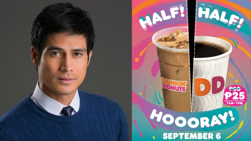 Piolo Pascual gives free coffee during this year's 'Dunkin' Coffee Day'