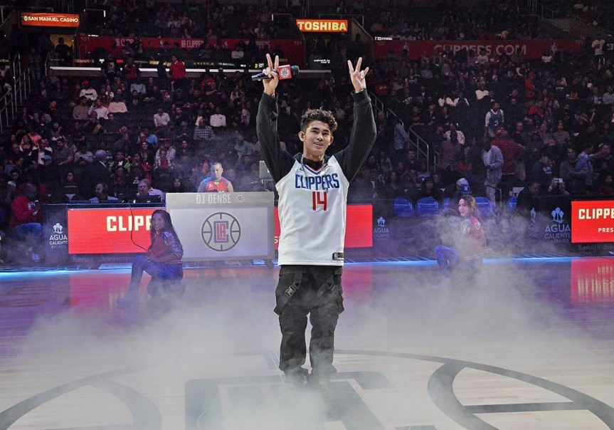 Inigo Pascual fulfills childhood dream, performs before sold-out crowd at LA Clippers' Filipino Heritage Night