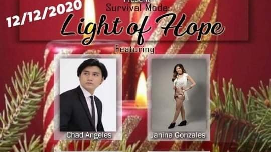 "Chad Angeles in ""Survival Mode: LIGHT OF HOPE"" online concert on December 12"