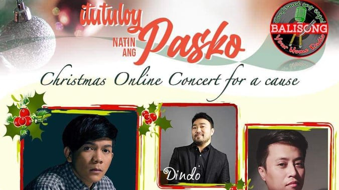 "Watch Dindo Fernandez ""Ituloy natin ang Pasko"" online concert this Sunday, December 20"